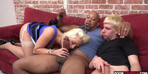 Cuckold watching his Hotwife Holly Heart Taking A Huge Black Cock