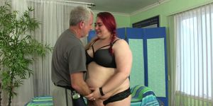 BBW Big Tender Has Her Fat Body and Hairy Pussy Massaged