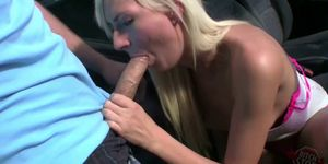 Hot Czech blonde with squirting pussy