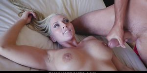 FamilyStrokes - Hot Gold-Digging Step-Mom Fucks Step-Son