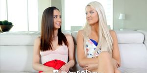 MyVeryFirstTime - Ashlee Mae and Lily Jordan first threesome
