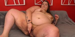 Fat Baby Doll BBW Fingers Her Pussy Before Receiving a Hard Fucking
