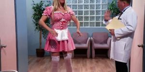 Nurse beauties go lesbian in locker room