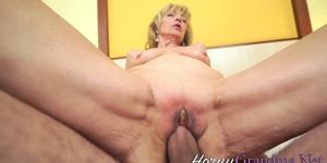 Old Granny Gets Cunt Plowed