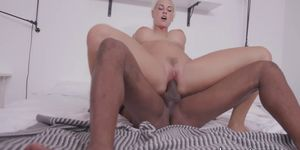 Beautiful babe screwed in ass and pussy by huge black cock