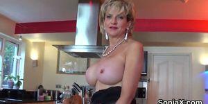 Cheating british milf gill ellis reveals her big boobs