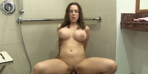 Kiera King takes BBC anal in the bathroom