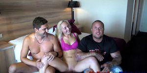 Dutch blonde hooker fucks