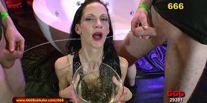 Skinny Brunette Extreme Piss Lover - 666Bukkake Porn Videos
