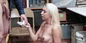 Amateur blonde facialized
