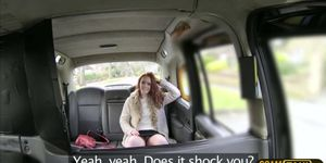 Gorgeous Ellas pussy gets penetrated in the backseat