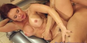 Milf masseuse gets fucked