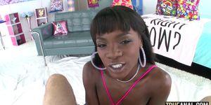 TRUE ANAL Butt fucking sexy ebony babe Ana Foxxx