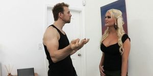 Slutty blonde Yoga student Alexis Ford is taught how to squirt