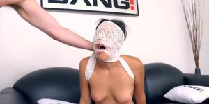 Maya Bijou blindfolded and face fucked before hot sex