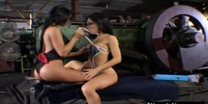 Sex and porno free - Sexy asian lesbians foreplay in abandoned factory