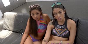 Threesome stepdaughters