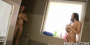 Hot hammering inside shower room Porn Videos