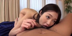 Ryu Enami lets horny guy to lick her pussy