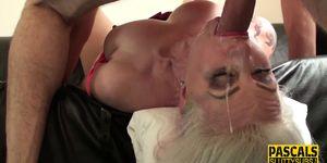Kinky lingerie MILF sub