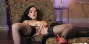 Glamorous Beauty Whitney Wright Fingering Herself in Sexy Lingerie