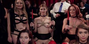 Group rimming swingers party