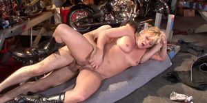 James Deen Gets Slutty Biker Milf Ginger Lynn Hard in Her Ass