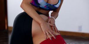 Yoga babes massage turns intimate