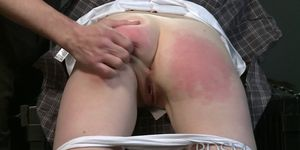 Pale skinned sub has mind and pussy fucked up by Dom