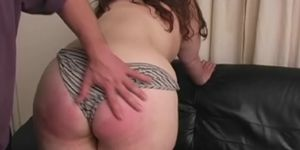 Her Big Butt Gets Red With BDSM Discipline In her Kitchen