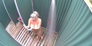 Monster Natural Big Boobs in Shower