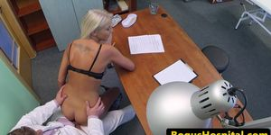 Doctor pussy fucks his wife in his office
