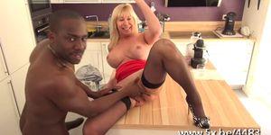 Emmanuelle 47 years old takes huge black cock
