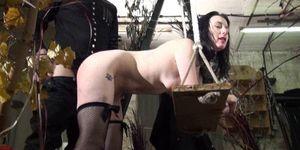 Rough hardcore domination of spanked Faye Corbin
