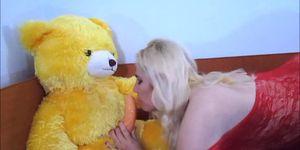 Blonde fucking teddybear