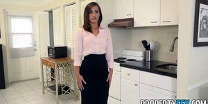 PropertySex Sexy Agent With Big Ass Fucks Boss To Keep Job Porn Videos