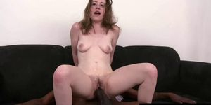 Petite bitch struggles to take a BBC
