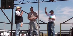 amateur pole dancing finalists at iowa biker rally