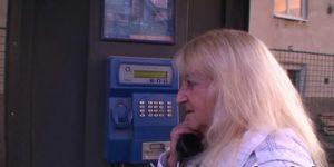 Old blonde granny pleases a stranger Porn Videos