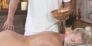 After massage naked blonde gets banged Porn Videos