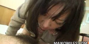 Makiko Nakane - Japanese Oldie Feasting ON A Young Cock