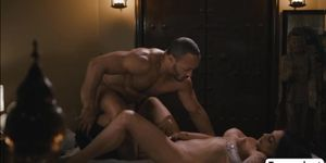 Horny Masseuse didnt expect to fuck her TGirl Customer Foxxy butthole