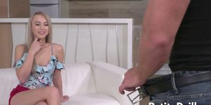 Beautiful Kira Thorn Gives a Blowjob Before Being Assfucked