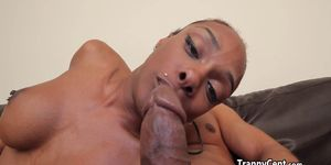 Tranny ass stuffed with giant black cock