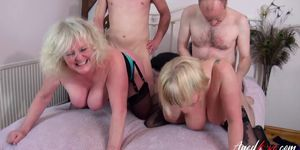 AgedLovE Hot Groupsex with Horny Matures