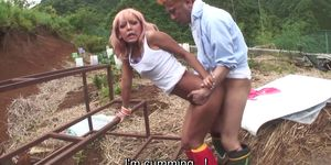 Uncensored JAV raw outdoor sex