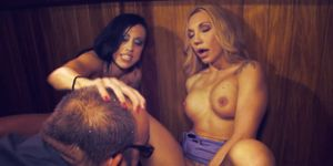 Squirting On Spectators At The Bar!
