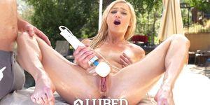LUBED - Big Dick Makes It Rain All Over Skinny Blonde