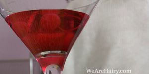 WEAREHAIRY - Christy makes a drink and then strips naked