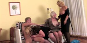 Young stud doing three matures Porn Videos
